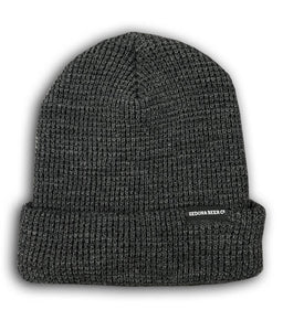 Text Tag Beanie (Heather Charcoal)