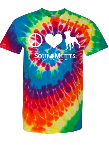 Peace, Love, Pittie Tie Dye T-Shirt