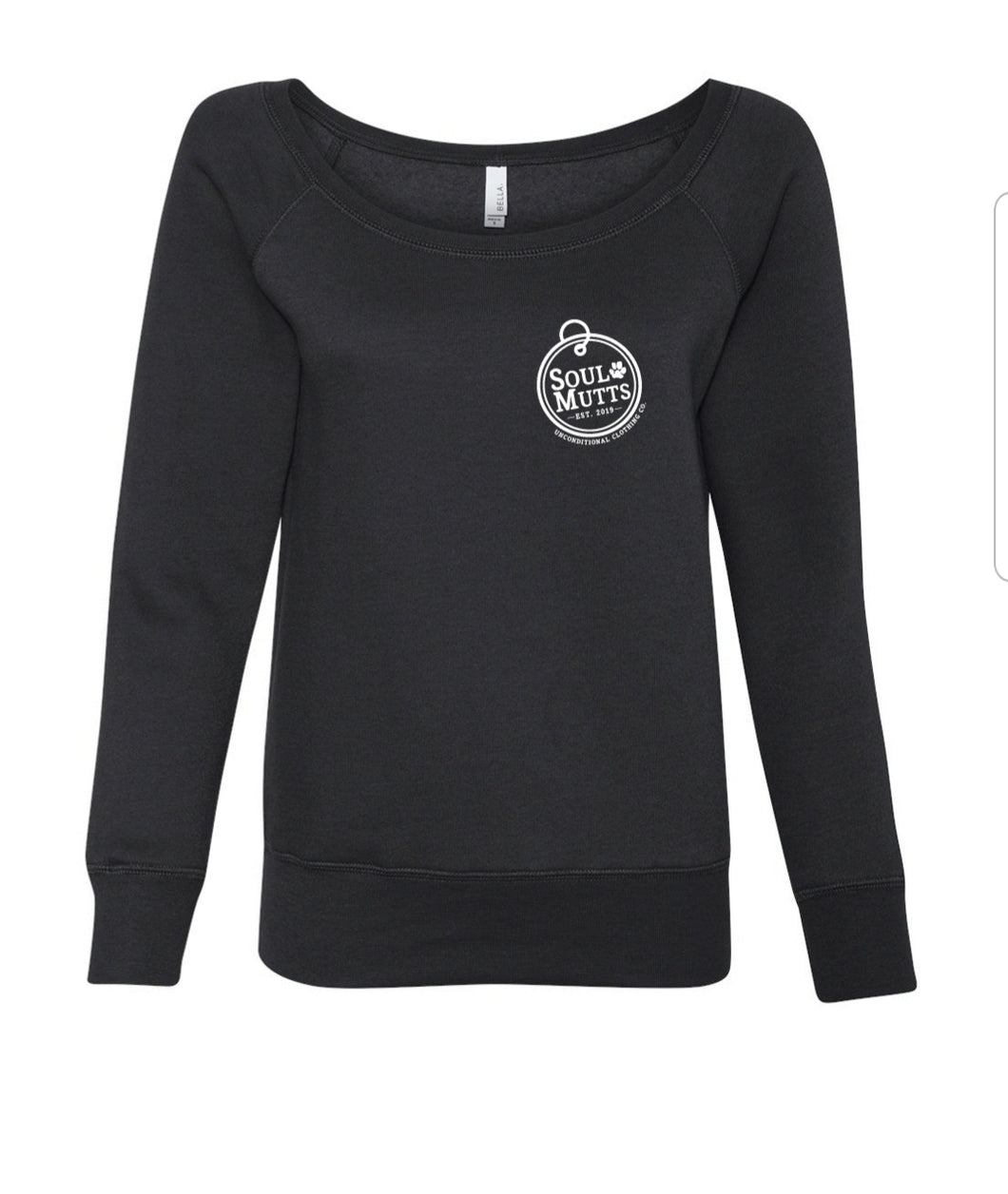 Women's wide neck sweatshirt