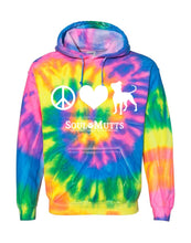 Load image into Gallery viewer, Peace, Love, Pittie Tie Dye Hoodie