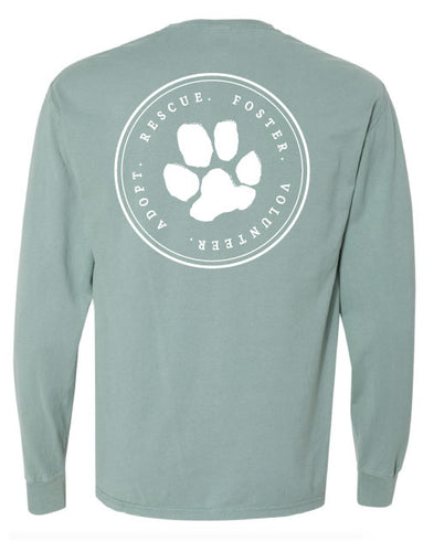 Adopt.Rescue.Foster.Volunteer Garment Dyed Long Sleeve (unisex) Shirt