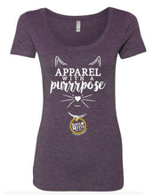 Load image into Gallery viewer, Apparel with a Purrrpose T-shirt