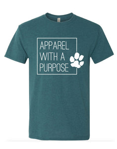 Apparel With A Purpose Paw Print Triblend T-Shirt