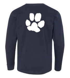 Toddler & Youth Paw Print Long Sleeve