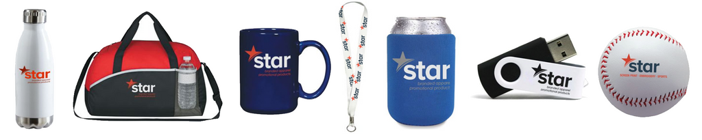 Star offers branding on every promotional item you can think of!