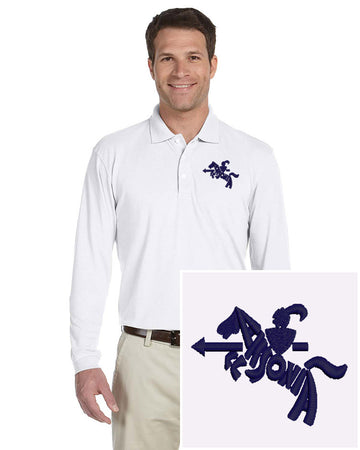Mens Long Sleeve Easy Care Polo