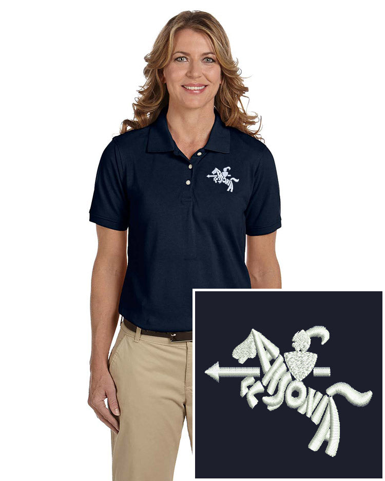 Ladies Short Sleeve Easy Care Polo Navy