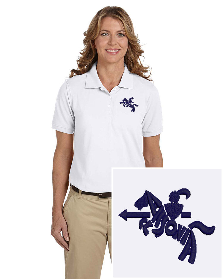 Ladies Short Sleeve Easy Care Polo White