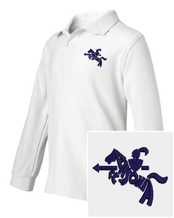 Youth Boys Long Sleeve Easy Care Polo