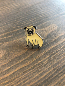 Dog Breed Enamel Pin & Keychain: Pug