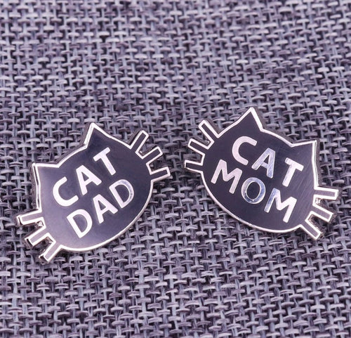 Cat mom and dad Pin