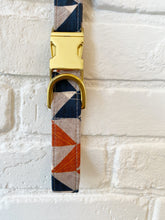 Load image into Gallery viewer, Walk in the Bark Collar: Orange Chevron