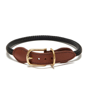 Knotty Rope Collar/Leash -Black