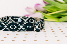 Load image into Gallery viewer, Walk in the Bark Collar: Black/White Aztec