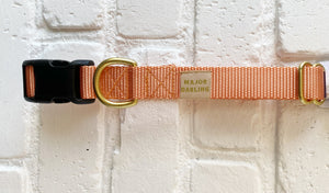 Major Darling Buckle Release Collar/Leash Peach