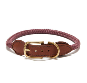 Knotty Rope Collar/Leash - Mauve