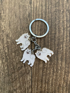 Triple Breed Keychain: Samoyed