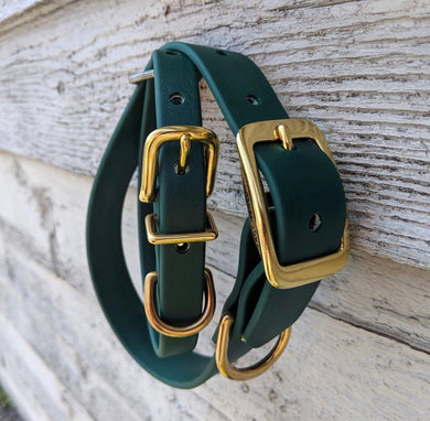 Biothane collar: Hunter Green