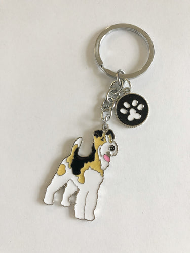 Dog Breed Enamel Pin & Keychain: Airedale