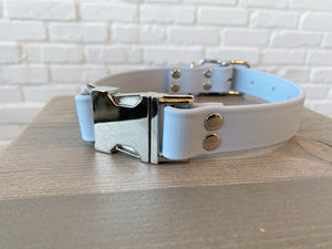 Biothane collar: DogDogGoose Pastel Blue