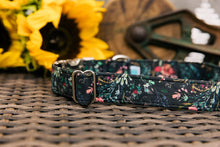 Load image into Gallery viewer, Walk in the Bark Collar: Black with floral