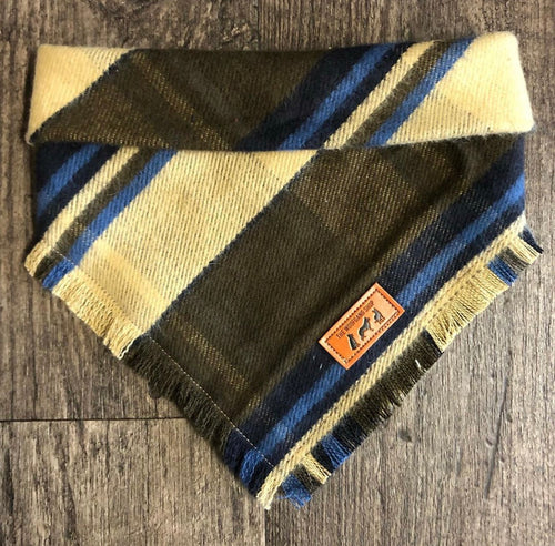 Flannel Fringe Snap on Bandana
