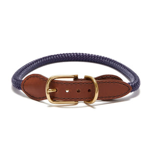 Knotty Rope Collar/Leash -Purple