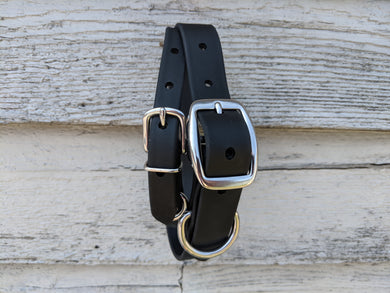 Biothane collar and leash: Black