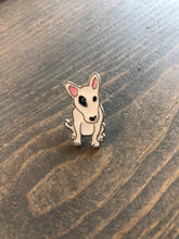 Load image into Gallery viewer, Dog Breed Enamel Pin & Keychain: Bull Terrier