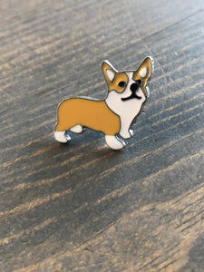 Dog Breed Enamel Pin & Keychain: Corgi