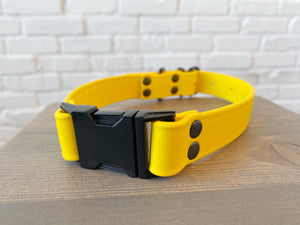 Biothane collar: DogDogGoose Yellow