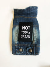 Load image into Gallery viewer, Denim Jacket XS: Not Today Satan