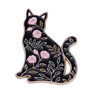 Floral Cat Pin