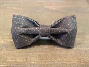 Grey with Dots Bow Tie
