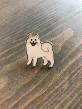 Load image into Gallery viewer, Dog Breed Enamel Pin & Keychain:Samoyed