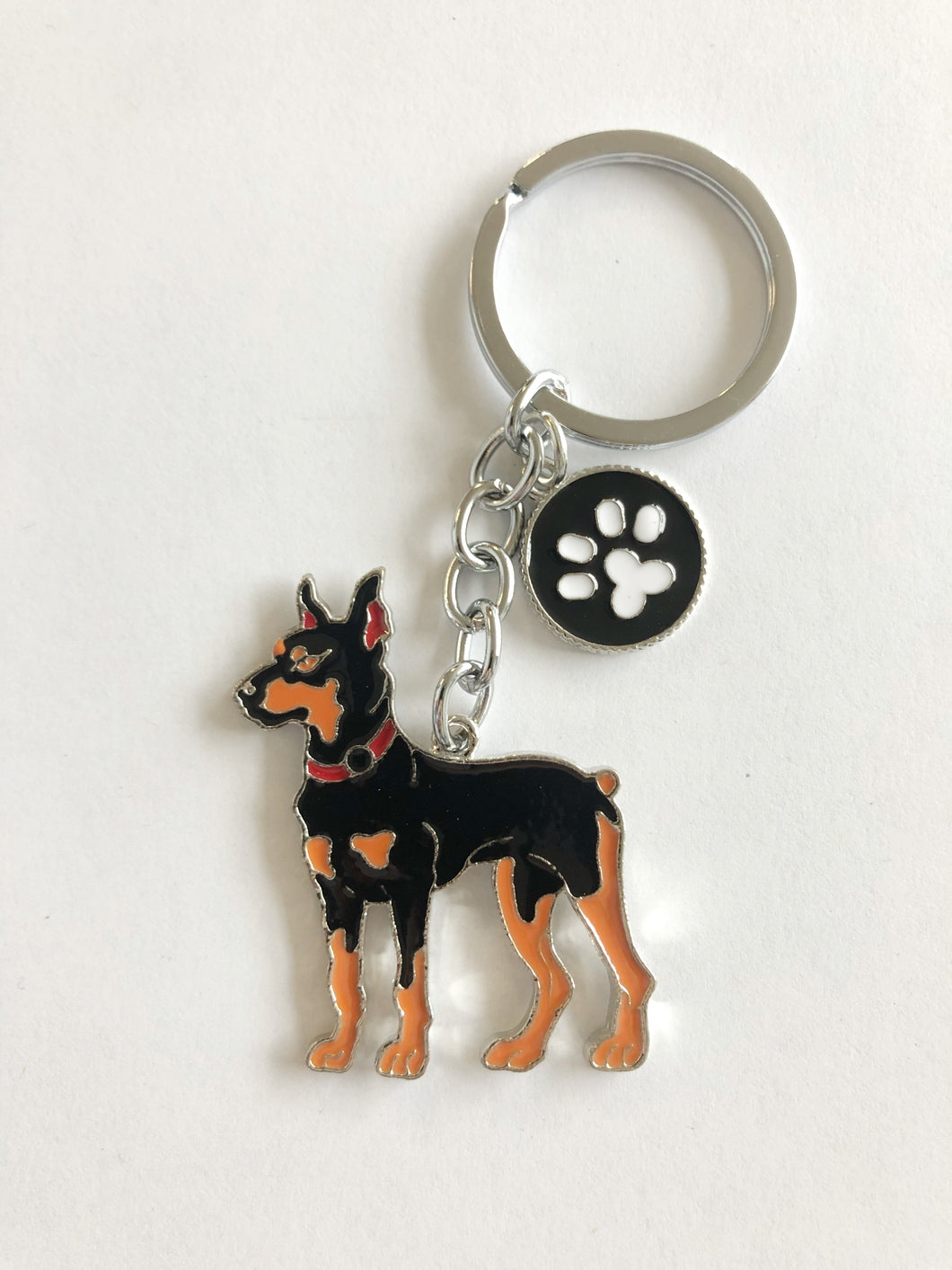 Dog Breed Enamel Pin & Keychain: Doberman