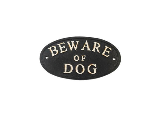 Beware Of Dog Cast Iron Sign