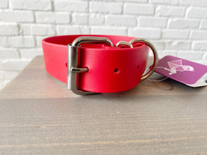 Biothane collar or leash: Red