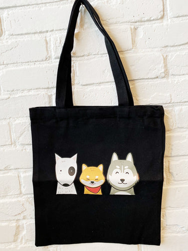 Reusable Canvas Tote - Assorted Dog Breeds