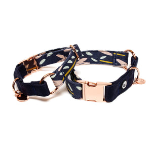 Two Tone Evening Meadow Buckle Collar