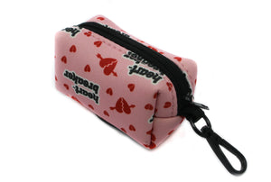 Pablo & Co Waste Bag Holder: Pink Heart Breaker