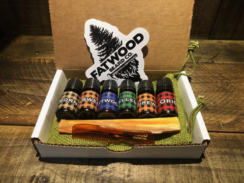 all natural beard oil sample pack