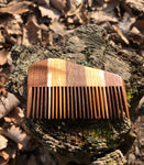 Handmade Multi-Wood Beard Comb