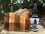 Handmade Multi-Wood Beard Comb With Beard Oil