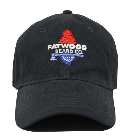 Fatwood Logo Peach Washed Cotton Hat