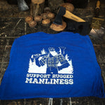 Support Rugged Manliness Heather Royal Blue