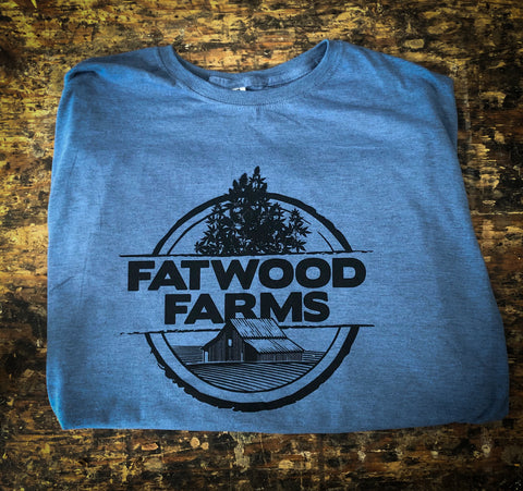 "Fatwood Farms Denim Heather ""Down on the Farm"" T-Shirt"