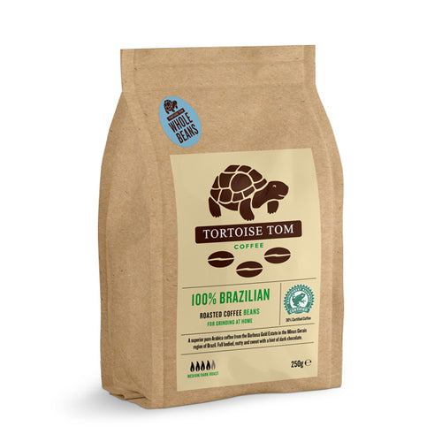 Tortoise Tom 100% Brazilian Whole Bean Coffee 250g