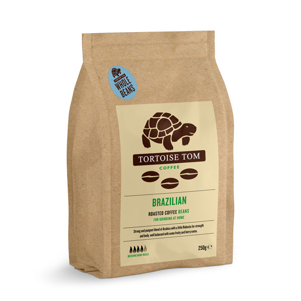 Tortoise Tom Brazilian Whole Bean Coffee 250g
