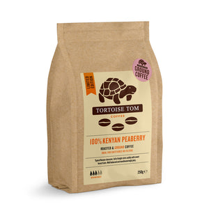 Tortoise Tom Limited Edition 100% Kenyan Peaberry Ground Coffee 250g